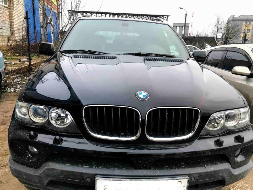 Фото до полировки кузова BMW