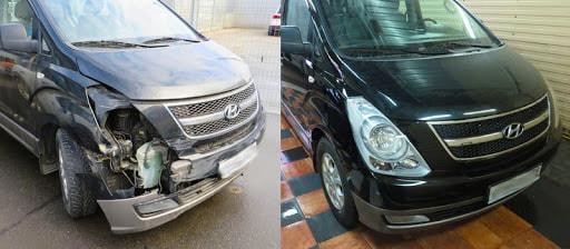 Фото до и после покраски автомобиля