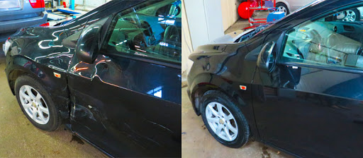 Фото ремонта двери авто до и после