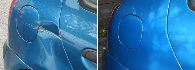 Фото ремонта крыльев: до и после