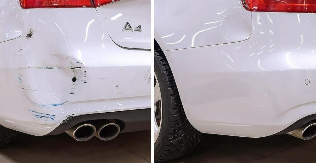 Фото ремонта бампера до и после