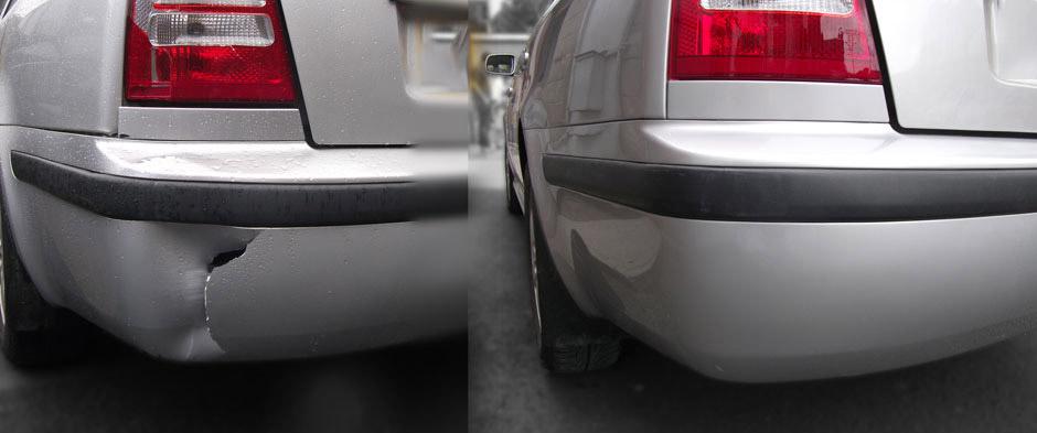 Фото ремонта бампера авто до и после