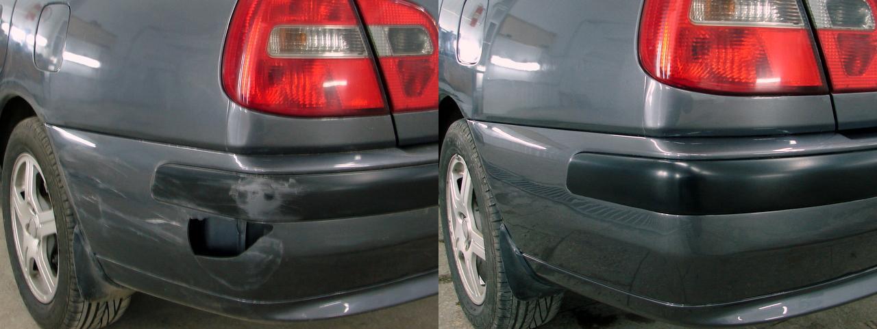 Изображение ремонта бампера до и после