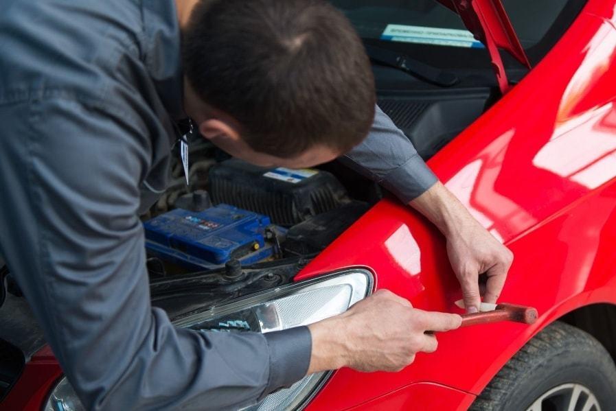 Фото удаление вмятины на кузове авто