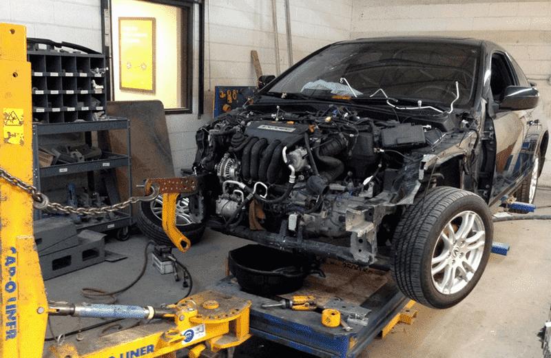 Изображение восстановления геометрии авто